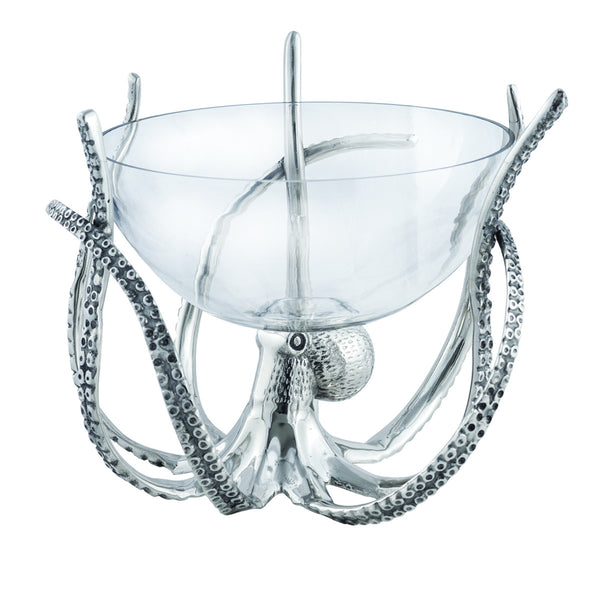 Octopus Glass Bowl and Stand