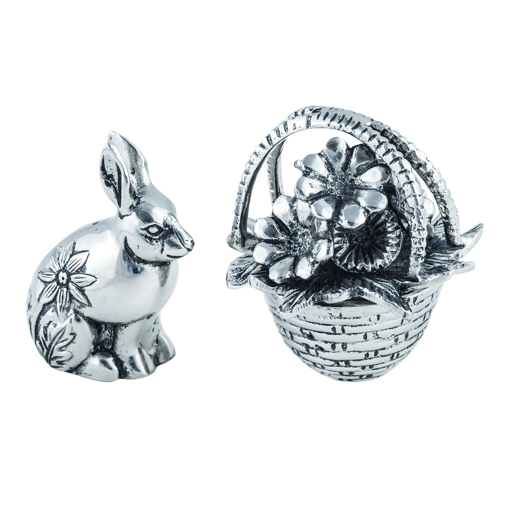 Table Accents Bunny & Basket Salt & Pepper Shakers