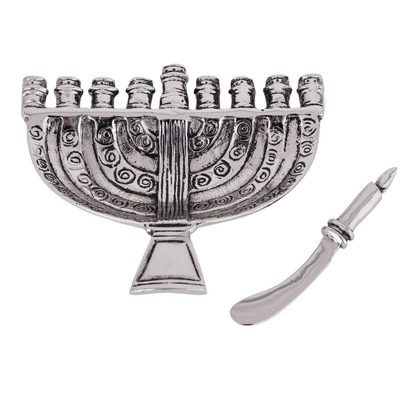 Table Accents Menorah Dip Dish W/ Spreader