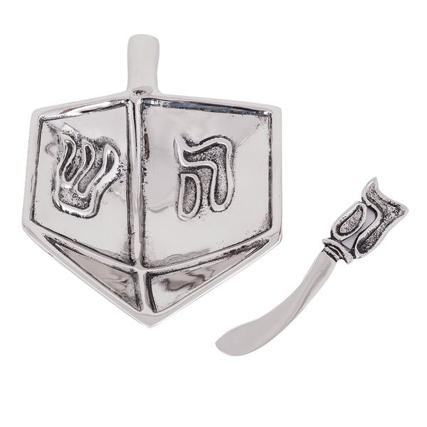 Table Accents Dreidel Dip Dish w/ Spreader