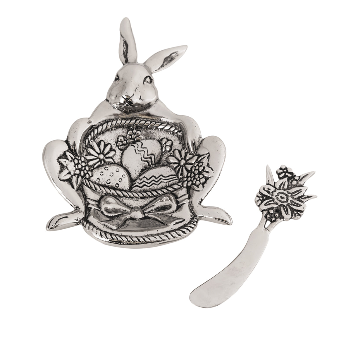 Table Accents Easter Bunny Dip Dish w/ Spreader