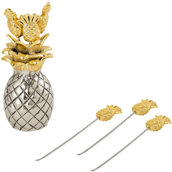 Pineapple Cocktail Picks Set