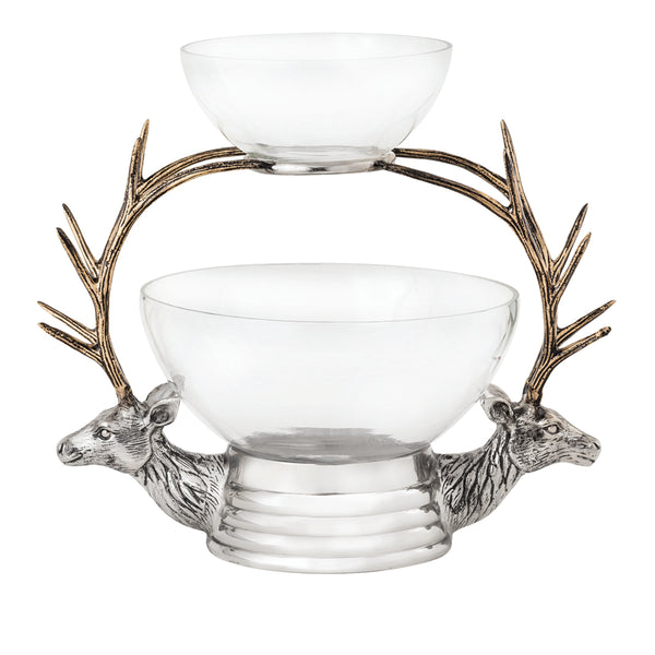 Elk Glass Bowl Tiered Server