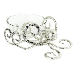 Octopus Glass Centerpiece Bowl