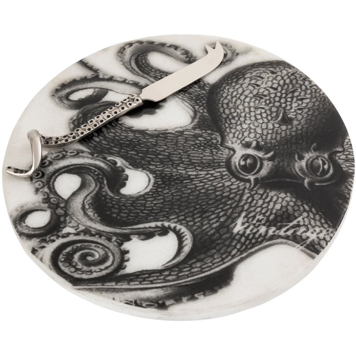 Octopus Marble Cheese Board W Knife Star Home Designs