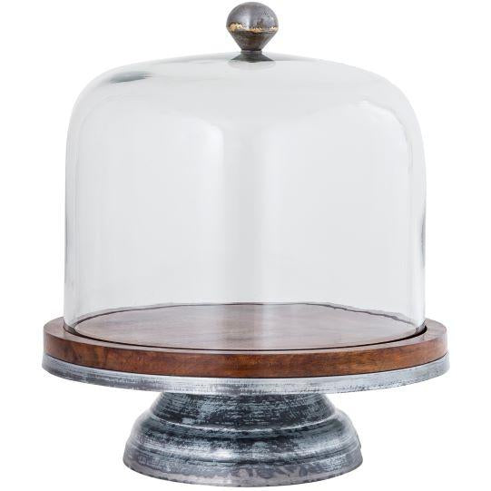 Ranch Glass Dome Cake Stand