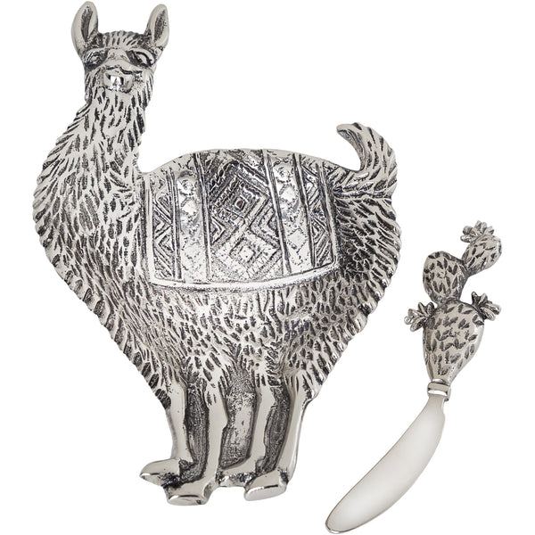 Table Accents Llama Dip Dish w/Spreader