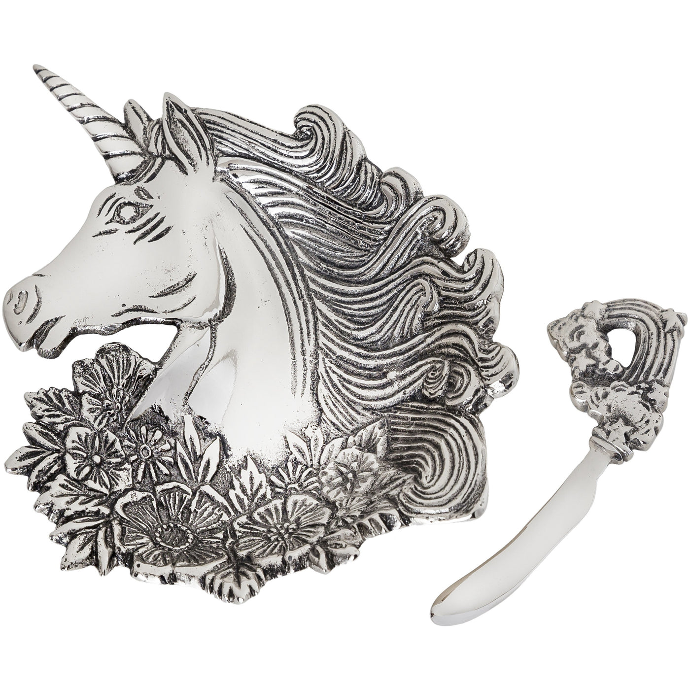 Table Accents Unicorn Dip Dish w/Spreader