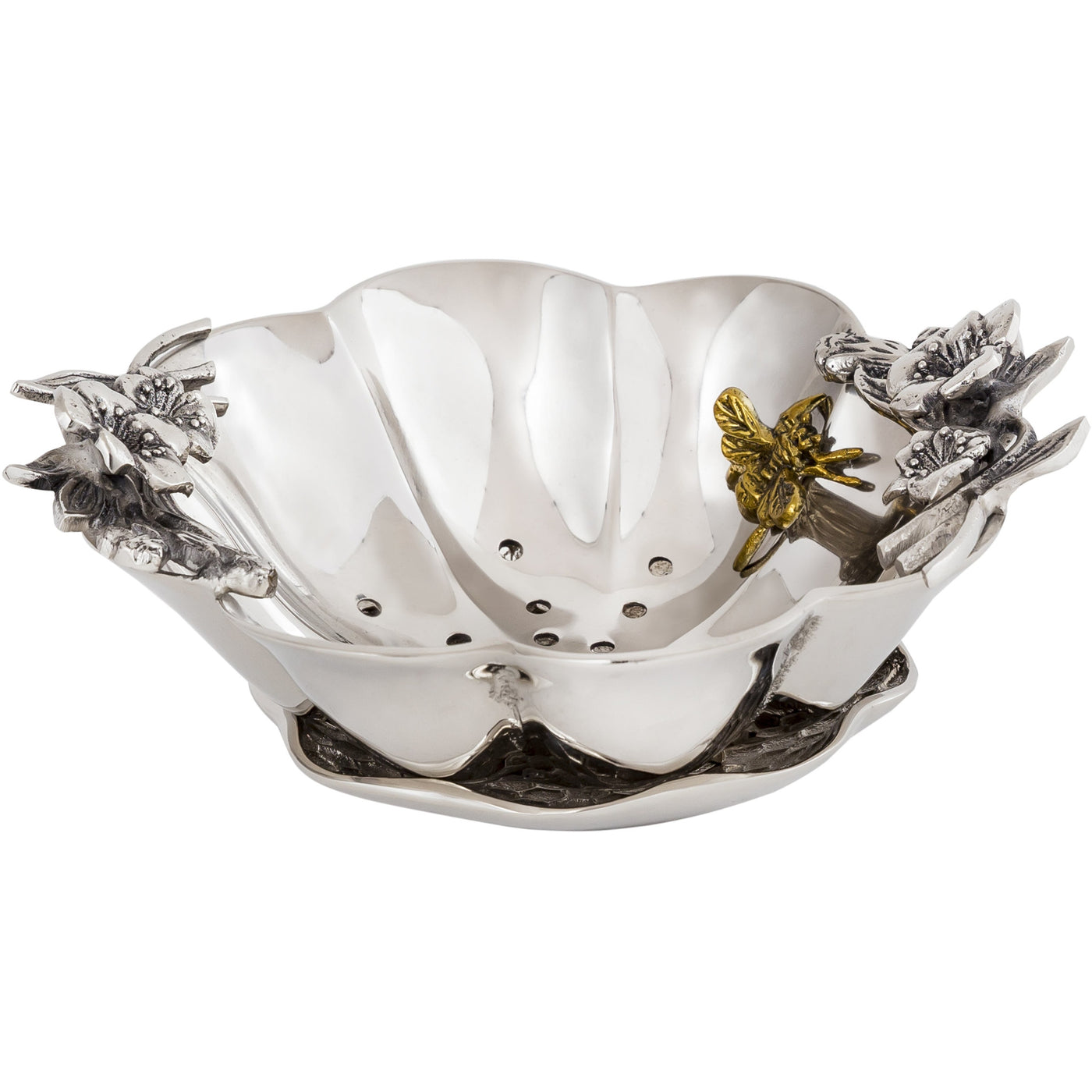 Bumble Bee Berry Bowl w/Under Tray