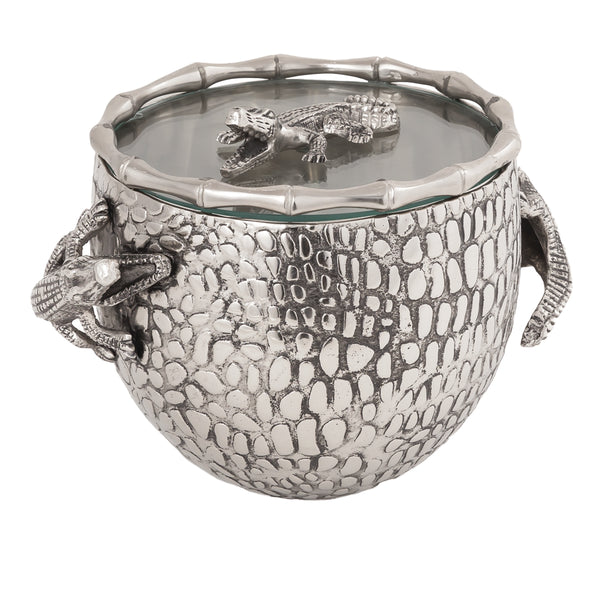 Gator Covered Ice Bucket (Nickel)