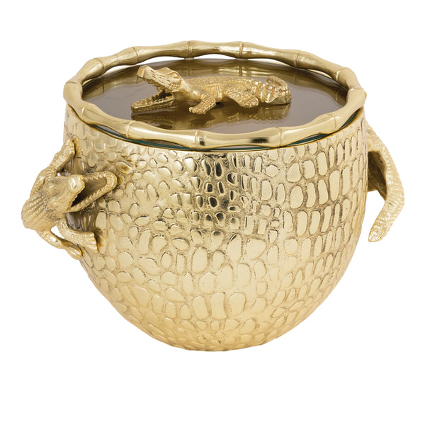 Gator Covered Ice Bucket (Gold)