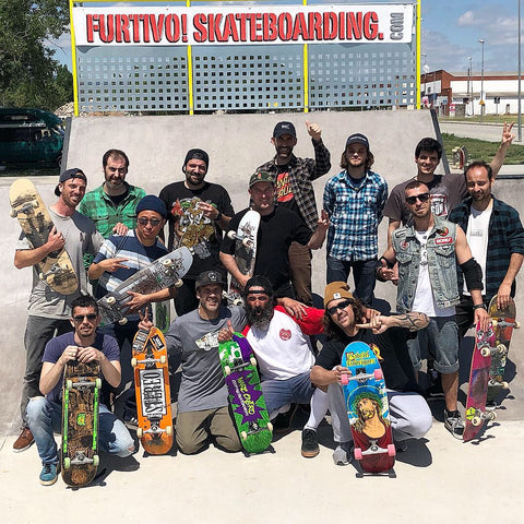 Old Guys Skate and Beers Furtivo Skateboarding