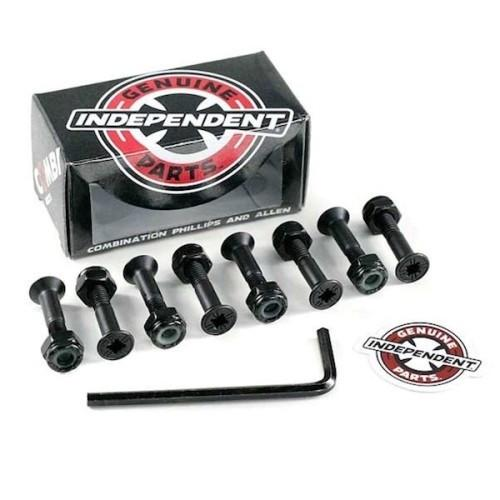 "Independent Trucks GENUINE PARTS 1"" PK/8 combi HARDWARE Screw Set Tornillos - Furtivo Skateboarding"