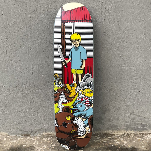 101 Skateboards Stuffed Animals Adam Mcnatt Scree Printed 8.5 Reissue Skateboard Deck -Tabla Skate - Furtivo! Skateboarding