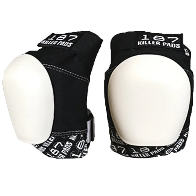 187 Killer Pads Pro Black White Knee Pads- Protecciones - Furtivo! Skateboarding