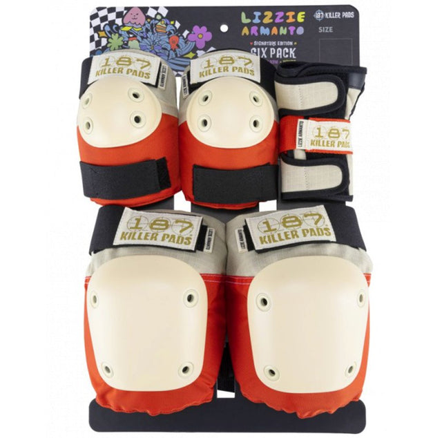 187 Killer Pads SIX PACK PAD SET Lizzie Orange XS- Protecciones Accesorios 187 Killer Pads