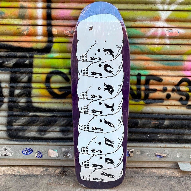Furtivo 8 Skulls White 1991 Shape 9.875 Skateboard Deck- Tabla Skate - Furtivo! Skateboarding