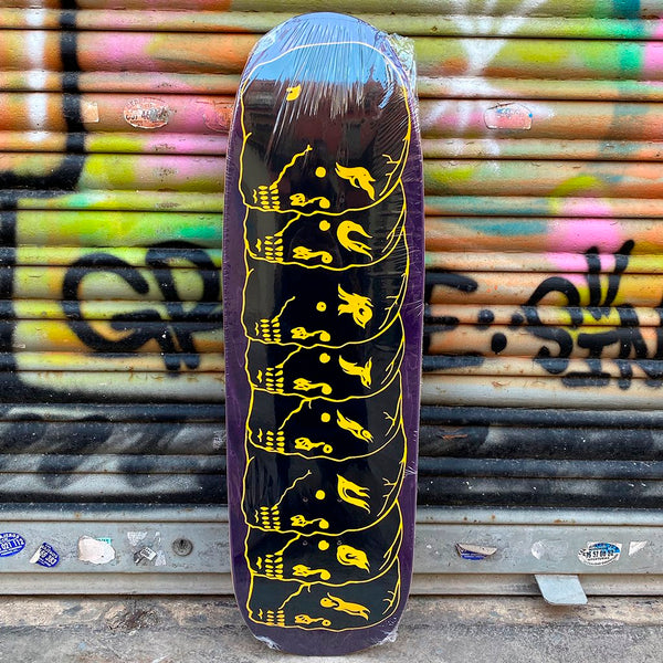 Furtivo 8 Skulls Black 1992 Shape 9.5 Skateboard Deck- Tabla Skate - Furtivo! Skateboarding