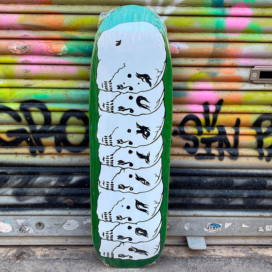 Furtivo 8 Skulls White 1992 Shape 9.5 Skateboard Deck- Tabla Skate - Furtivo! Skateboarding