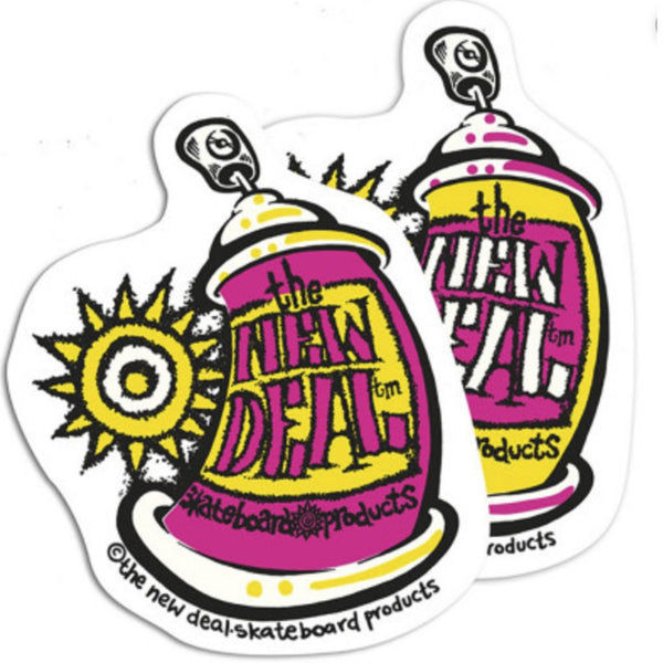 New Deal Skateboards Spray Logo Sticker Accesorios -Pegatina - Furtivo! Skateboarding