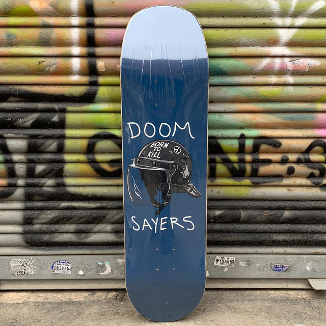 Doom Sayers Riot Helmet Blue Shovel Nose 8.4 Skateboard Deck - Tabla Skate Tabla/Deck Doom Sayers