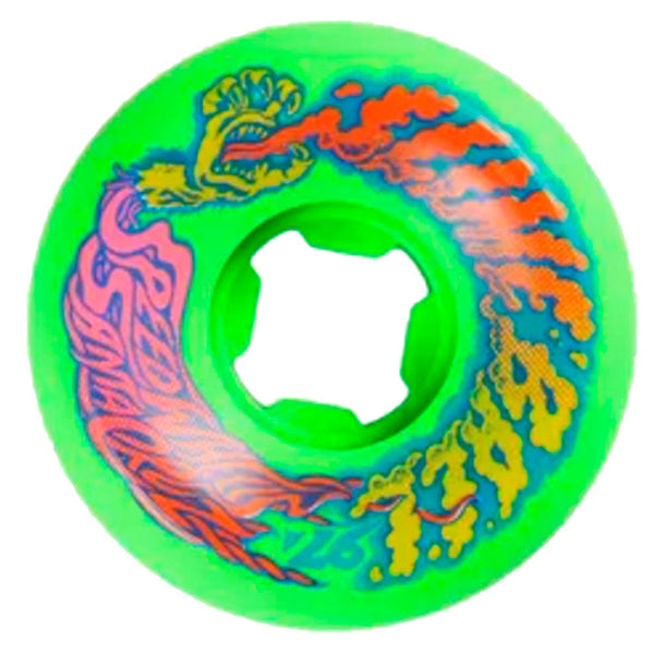 Santa Cruz 53mm Vomit Mini Green 97A Slime Balls Wheels- Ruedas Ruedas Santa Cruz Skateboards
