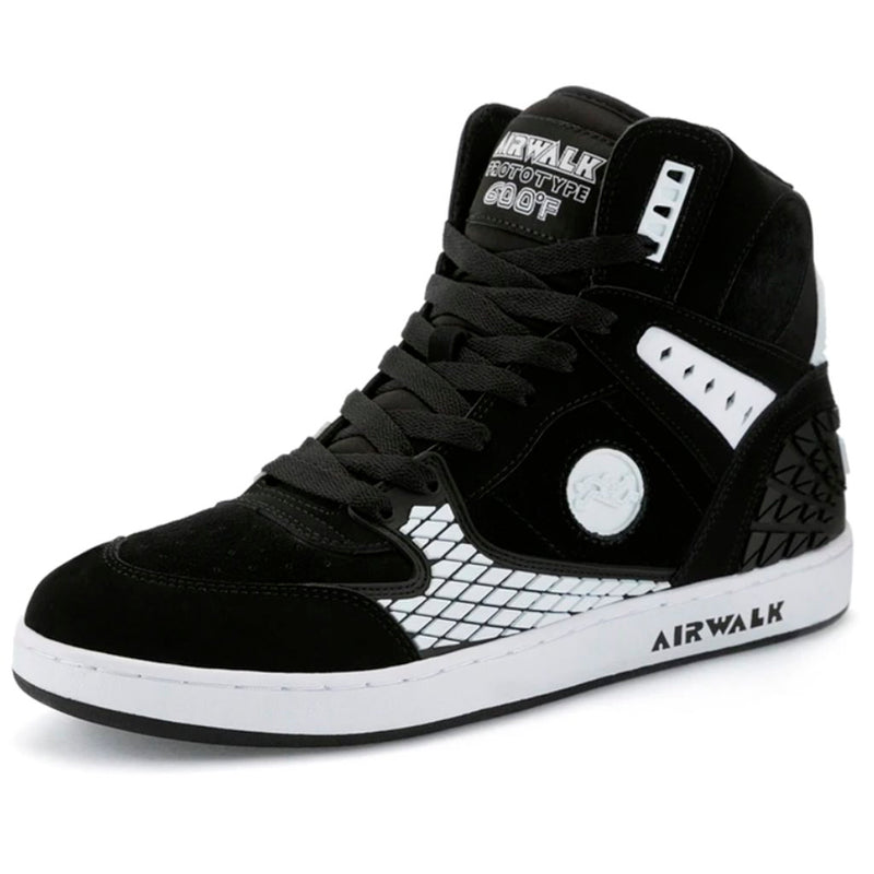 AIRWALK 600F Black White Reissue Zapatillas Skateboard- Shoes - Furtivo! Skateboarding