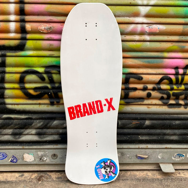 Brand X-Toxic Knucklehead White Reissue Skateboard Deck- Tabla - Furtivo! Skateboarding