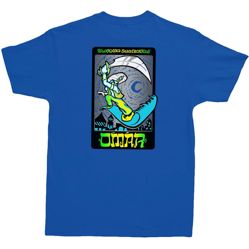 Blockhead Skateboards Omar Hassan Magic Carpet Blue T Shirt- Camiseta - Furtivo! Skateboarding