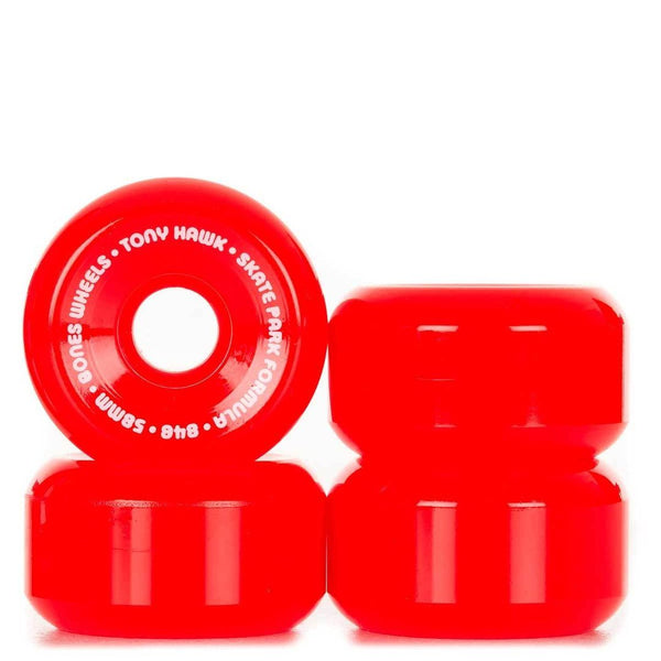 RUEDAS/WHEELS BONES WHEELS HAWK MINI CUBE RED 58MM - Furtivo Skateboarding