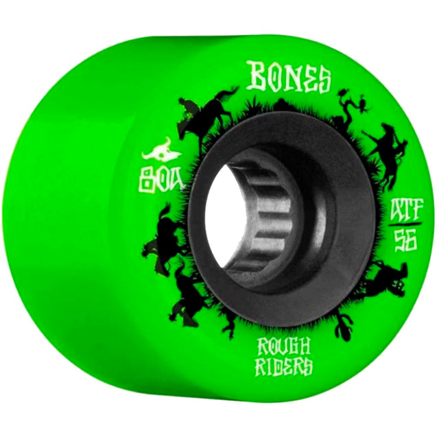 Bones Wheels Rough Riders Wranglers Green ATF 56MM-Ruedas - Furtivo! Skateboarding