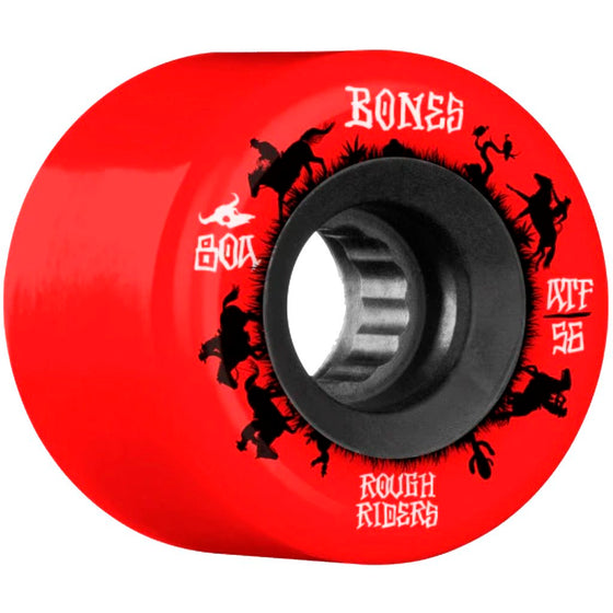 Bones Wheels Rough Riders Wranglers Red ATF 56MM-Ruedas - Furtivo! Skateboarding