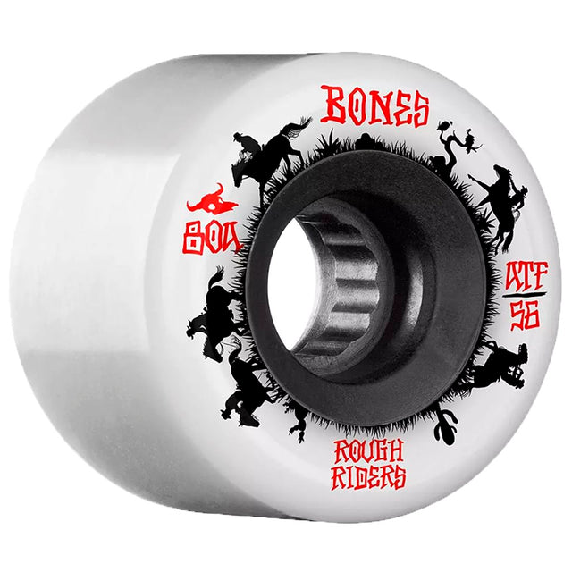 Bones Wheels Rough Riders Wranglers White ATF 56MM-Ruedas - Furtivo! Skateboarding