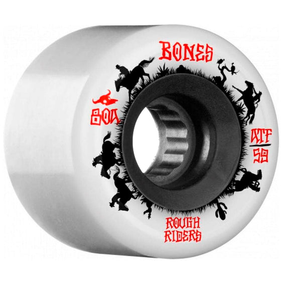 Bones Wheels Rough Riders Wranglers White ATF 59MM-Ruedas - Furtivo! Skateboarding