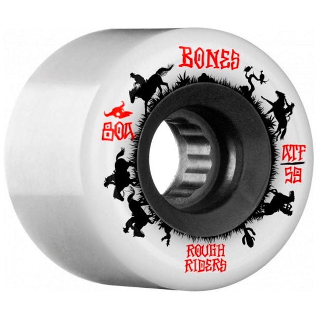 Bones Wheels Rough Riders Wranglers White ATF 59MM-Ruedas Ruedas Bones