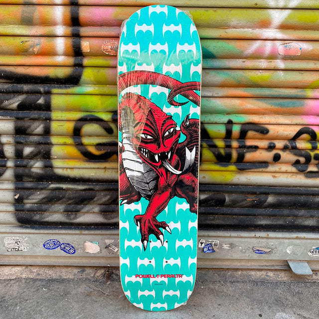 Powel Peralta Cab Dragon Teal One Off 7.75 x 31 Skateboard Deck- Tabla - Furtivo! Skateboarding