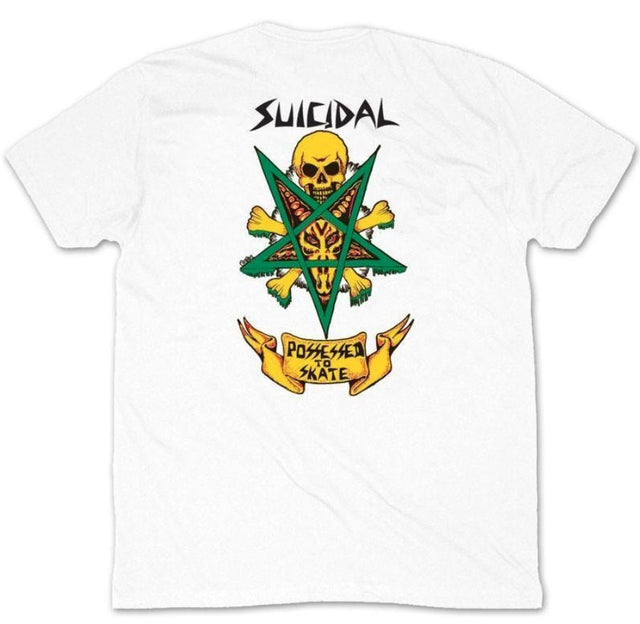 Dogtown Suicidal Skates Possesed To Skate White T-Shirt- Camiseta Ropa Suicidal Skates