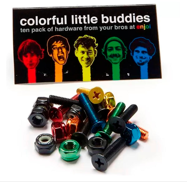 "Enjoi Colorful Buddies 1"" PK/10 Phillips HARDWARE Screw Set Tornillos Tornillos Enjoi"