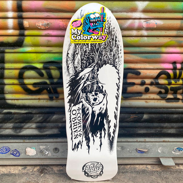 Santa Cruz O'BRIEN REAPER My Colorway Reissue 9.85 Purple Skateboard Deck- Tabla Tablas Santa Cruz Skateboards