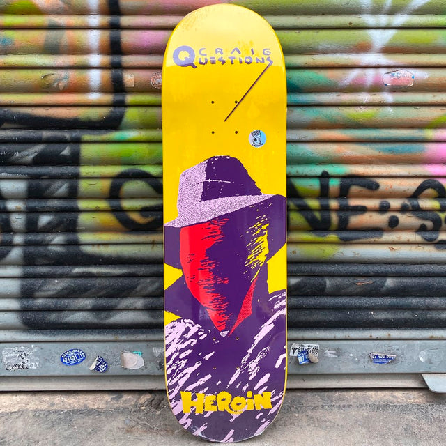 Heroin Skateboards Craig Cuestion Team Giallo 8.75 Skateboard Deck- Tabla Skate Tabla/Deck Heroin Skateboards