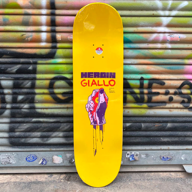 Heroin Skateboards Team Giallo 8.625 Skateboard Deck- Tabla Skate Tabla/Deck Heroin Skateboards