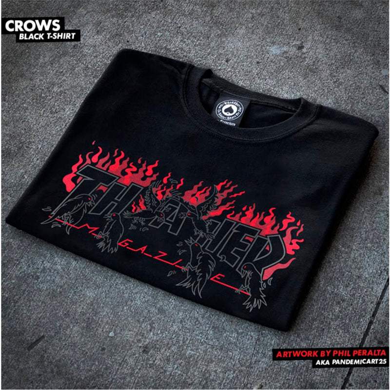 Thrasher Crows Tee Black -Camiseta - Furtivo! Skateboarding