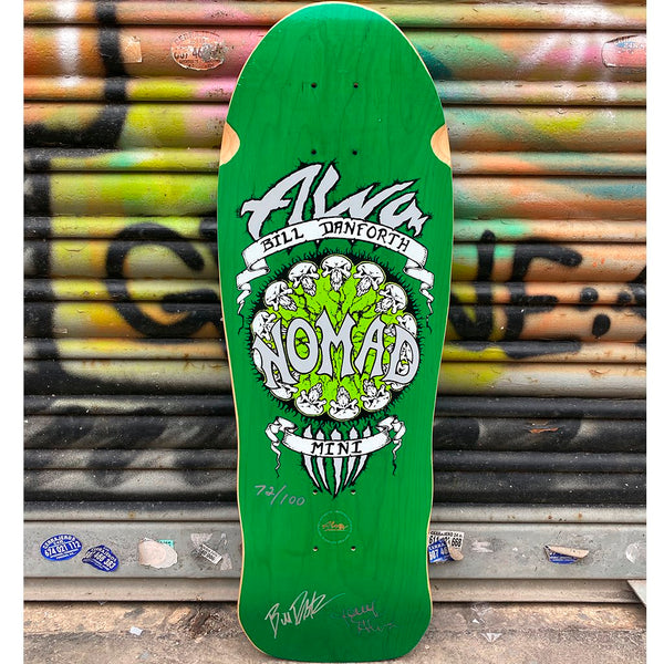 Alva Bill Danforth Mini LTD Signed Numbered Reissue Skateboard Deck-Tabla Skate Tablas Alva Skates