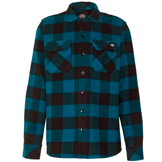 Dickies Sacramento Relaxed Long Sleeve Cyan- Camisa - Furtivo! Skateboarding
