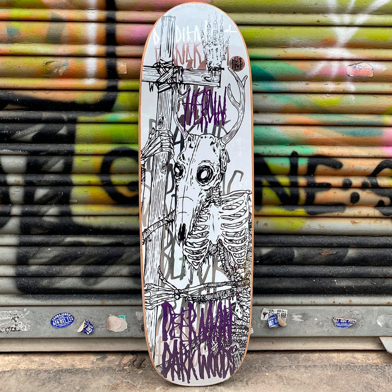 Heroin Skateboards DMOW Skeletal White 9.25 Skateboard Deck- Tabla Skate Tabla/Deck Heroin Skateboards
