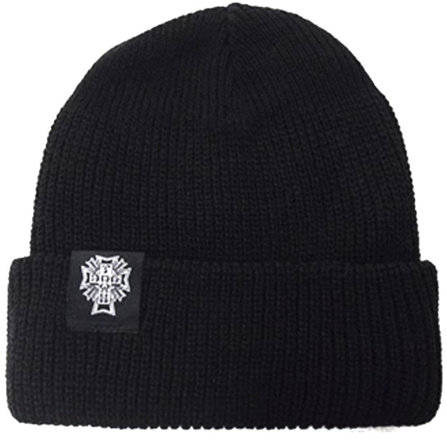 Dogtown Beanie Cross Logo Black Beanie- Gorras - Furtivo! Skateboarding