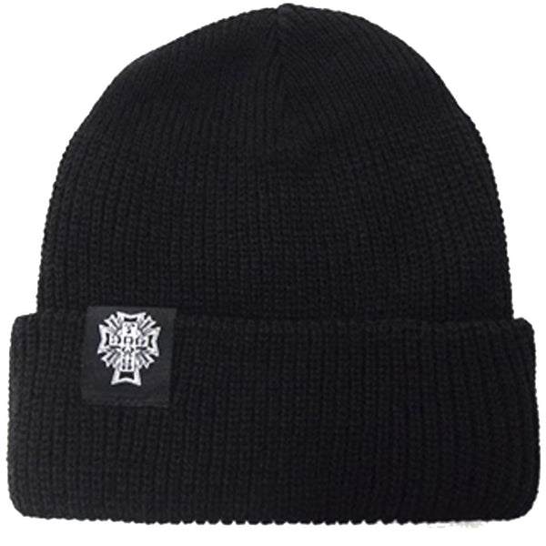 Dogtown Beanie Cross Logo Black Beanie- Gorras Gorras Dogtown Skateboards