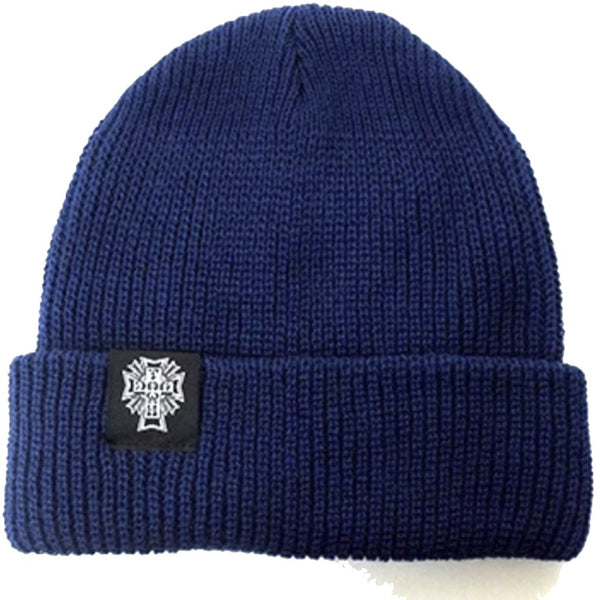 Dogtown Beanie Cross Logo Navy Beanie- Gorras Gorras Dogtown Skateboards