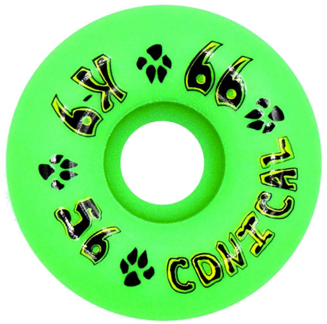 Dogtown wheels k-9 Conical 56mm 99a Neon Green - Ruedas Ruedas Dogtown Skateboards