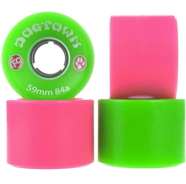 Dogtown wheels k-9 Mini Cruiser 59mm 84A Mix Neon Green/Neon - Ruedas Ruedas Dogtown Skateboards